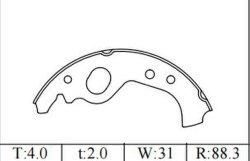 سيراميك سيارة عالية الجودة قطع غيار السيارات أحذية الفرامل ليوغو كابريو يوغو فيات (S434/) قطع غيار السيارات ISO9001