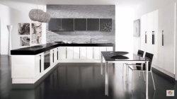 Estilo moderno Design Simples Série Cinza Lacado armário de cozinha
