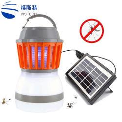 모기 살인자 램프 옥외 버그 Zapper 태양 함정 야영 손전등 2 In1 휴대용 USB 반대로 모기 비행거리 곤충 살인자 천막 빛