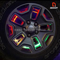 8W RGB 번쩍이는 네온 바퀴칸 빛 백만개의 색깔 타이어 변죽 빛