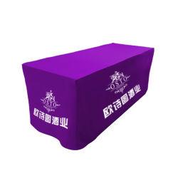4pies provistos de tensión de la tabla de tejido personalizado Mostrar encabezado cubre con coloridos Imprimir