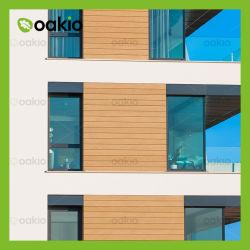 Resistente al UV WPC compuesto de plástico Madera Material de revestimiento de pared exterior para el exterior