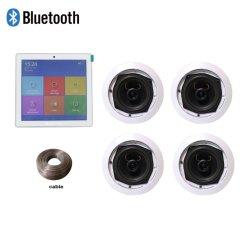 Ba-425TC PK1 sistema Home Theater, incluyendo 4 canales del amplificador de Bluetooth con pantalla táctil y coaxiales de altavoces de techo