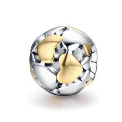 100% 925 Sterling Silver Ouro luminosa bracelete cardíaca encantos cordões