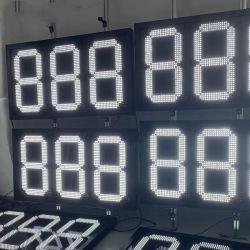 شاشة LED للوحدة النمطية للأرقام الرقمية باللون الأبيض للمقطع السابع مؤشر أسعار النفط يوقع على تحكم عن بعد لأسعار الغاز