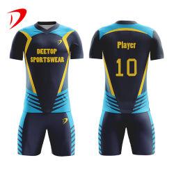 High School Team Shirt Custom 100% poliéster Camiseta de fútbol para jóvenes Ropa de fútbol para ropa de deporte de alta calidad