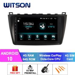 Android Witson 10 aluguer de DVD Leitor de Multimédia para Mazda 2008-2013 Mazda 6 4 GB de RAM 64GB Flash grande ecrã no aluguer de DVD