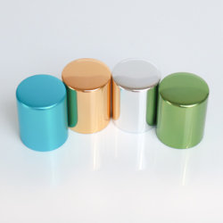 Venta caliente bastante vacío tapa de botella de lujo para tarros de cosméticos tapas tapa de aluminio