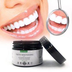 カスタムロゴの歯のための粉を白くする有機性真新しい食品等級の作動したココナッツ30g歯のWhitenerの口頭心配の木炭