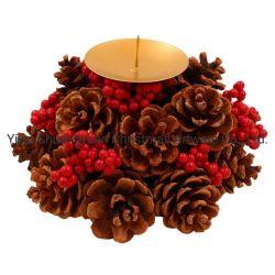 Großhandelsaufsatz Pinecone WeihnachtsWreath brown-Pinecone für Weihnachtsdekoration