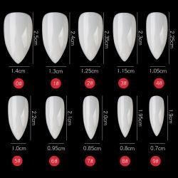Commerce de gros personnalisé clair/blanc/long de la nature de l'eau goutte de faux ongles nail Astuce beauté Nail Art Fournitures d'ongles