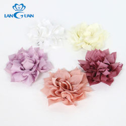 Китай красочные Двухслойная ткань Mesh клея назад цветы на платье