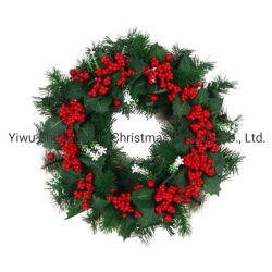 Grüner Weihnachtswreath-Dekoration-WeihnachtstürWreath für Weihnachtsdekor
