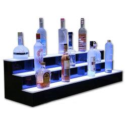Voyant allumé la lumière unique d'affichage de l'alcool jusqu'à l'acrylique glorifier bouteille