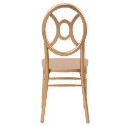 Apilable de color oro Chiavari sillas de madera doble boda
