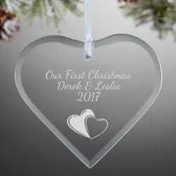 Gepersonaliseerde Crystal Glass Craft Party Holiday Home Kerst Tree Ornament Cadeau Ideeën Kerst Decoratie