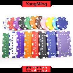 11.5g - 32g粘土/ポーカー用のチップステッカーが付いている顧客用さまざまなカラーカジノチップまたはロゴYm- Cp024を印刷できる