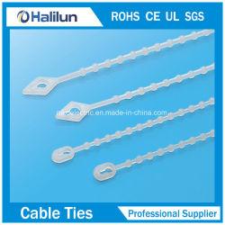 Wiederverwendeter Nylonknoten-Kabelbinder mit dem Verschiebung-Rutschen