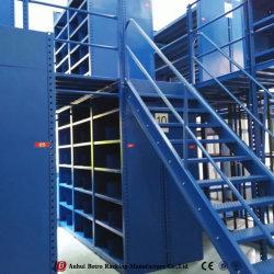 Полка для хранения склада для тяжелого режима работы стали Мезонин стеллаж