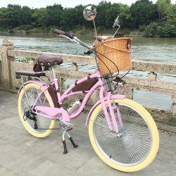 Rosafarbener Brach Kreuzer 24 Zoll-Fahrrad-Dame City Bicycle