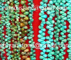 Perlas piedras preciosas perlas de color turquesa en forma de lágrima (redondo) Yd011
