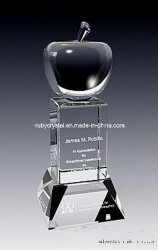 9 pulgadas de alto excelente Crystal Apple Award Trophy (GL12).