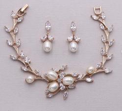 Perlas de agua dulce y CZ Declaración nupcial de boda pulsera, Pulsera de Perlas Joyas, relojes pulsera Bridesmaid, la Joyería nupcial