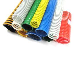 Plástico flexible de aspiración de la hélice de PVC reforzados tubo tubo espiral de descarga de la línea de conducto flexible con superficie lisa o corrugada