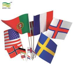 De digitale Vlag van de Ventilator van de Hand van de Douane van de Sporten van de Polyester van de Druk Mini Golvende