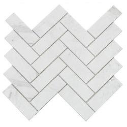 ديكور شقق على طراز أستراليا شيفرون رخامى أبيض اللون موزاييك تجانب