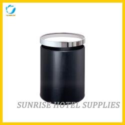 Черная корзина неныжной бумаги металла для гостиницы