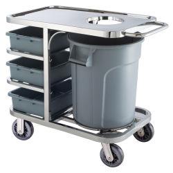 호텔 금속 차량 서비스 운반대 청소 트롤리 손수레 (HS-38)