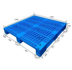 中国の製造所の標準サイズ1200*1000の倉庫の輸送のプラスチックパレット