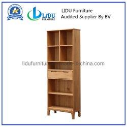 Estantería de madera con alta calidad e industriales modernas de estantería de madera de roble con armario de almacenamiento de muebles de inicio