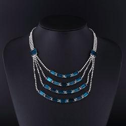 2016 Set collana Classic in lega di zinco e gioielli fantasia Rhinestone