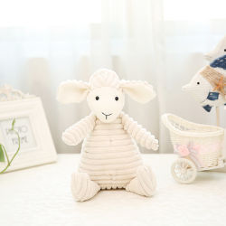 Comercio al por mayor seguridad de felpa suave Peluche juguete cordero para el bebé