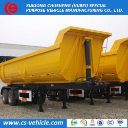 2 /3 eixo U/Haste Reta/Alavanca Hidráulica/ Descarga Traseira de carga semi reboque