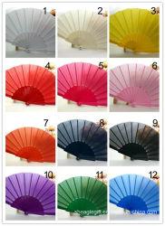Feste normale Farben-Silk Handnylonventilator für Hochzeits-Geschenk-Bevorzugung