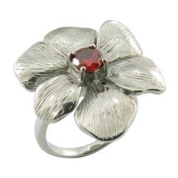Meilleure vente de bijoux de moulage des éléments Stainess Bague Fleur d'acier