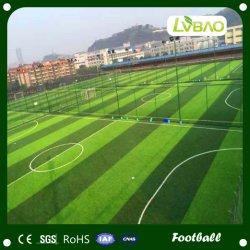50mm trois Football artificielle de couleur verte de l'herbe le tapis de gazon en plastique