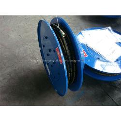 Carrete de manguera eléctrica fija para aceite hidráulico