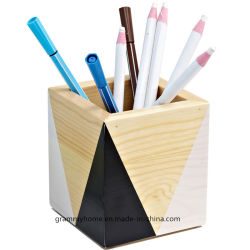 Table de bureau en bois Decoupage cuite pièce maîtresse d'organiser la plume de pastels Pot de brosse
