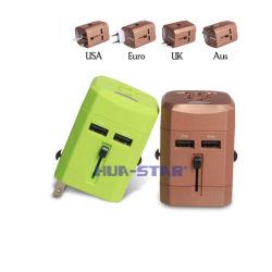 Adaptateur de voyage personnalisés professionnels avec Chargeur USB (HS-T107DU)