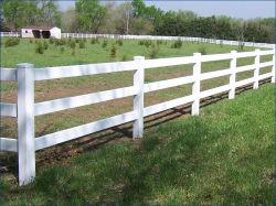 농장과 방목장을%s PVC 가로장 울타리