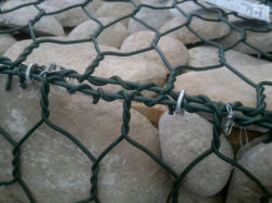 De Doos Gabion/Gabion Bastket/Gabion van het pvc Met een laag bedekte Netwerk van de Draad Hexagonale