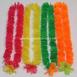 Lei de Flores Havaiano Artificial personalizados com flor grande parte para haste pendente