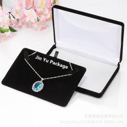 Hechos a mano de lujo elegante collar de terciopelo de Metal Joyería regalo Caja de embalaje
