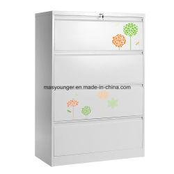 Neuer Entwurfs-Metallaktenspeicherungs-Schrank-seitlicher Büro-Datei-Sicherheitsschloss-Faltblatt-Stahlschrank