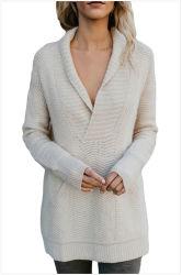 Mesdames col V pull pullover en tricot pour les femmes