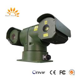 Het voertuig zet de anti-Stoot t-Vorm PTZ IP Infrarode Camera van de Laser op